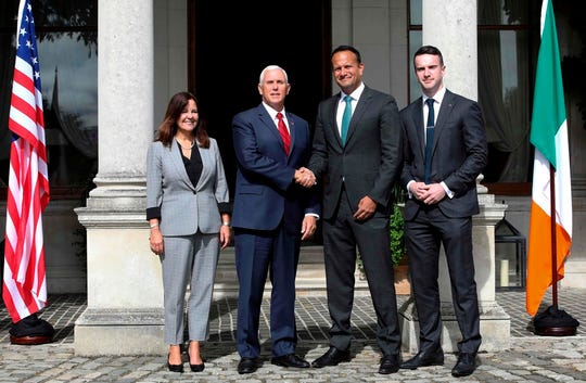 Mike Pence, Doonbeg, Ireland