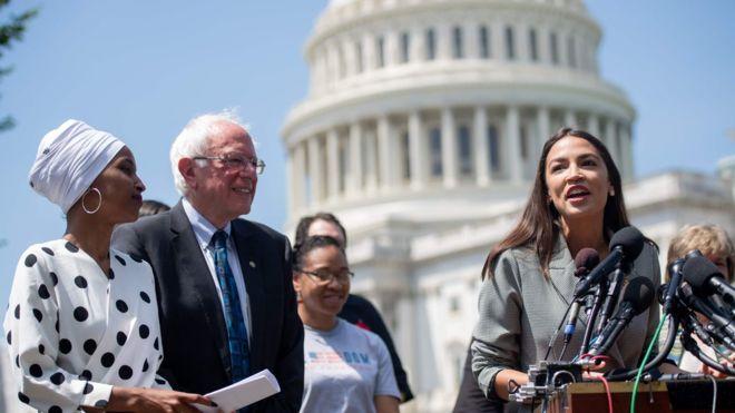 elections, The Squad, Bernie Sanders, endorsement