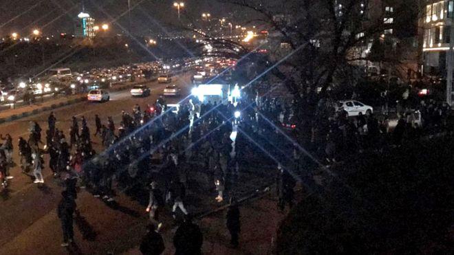 iranian protests, Ukrainian plane crash