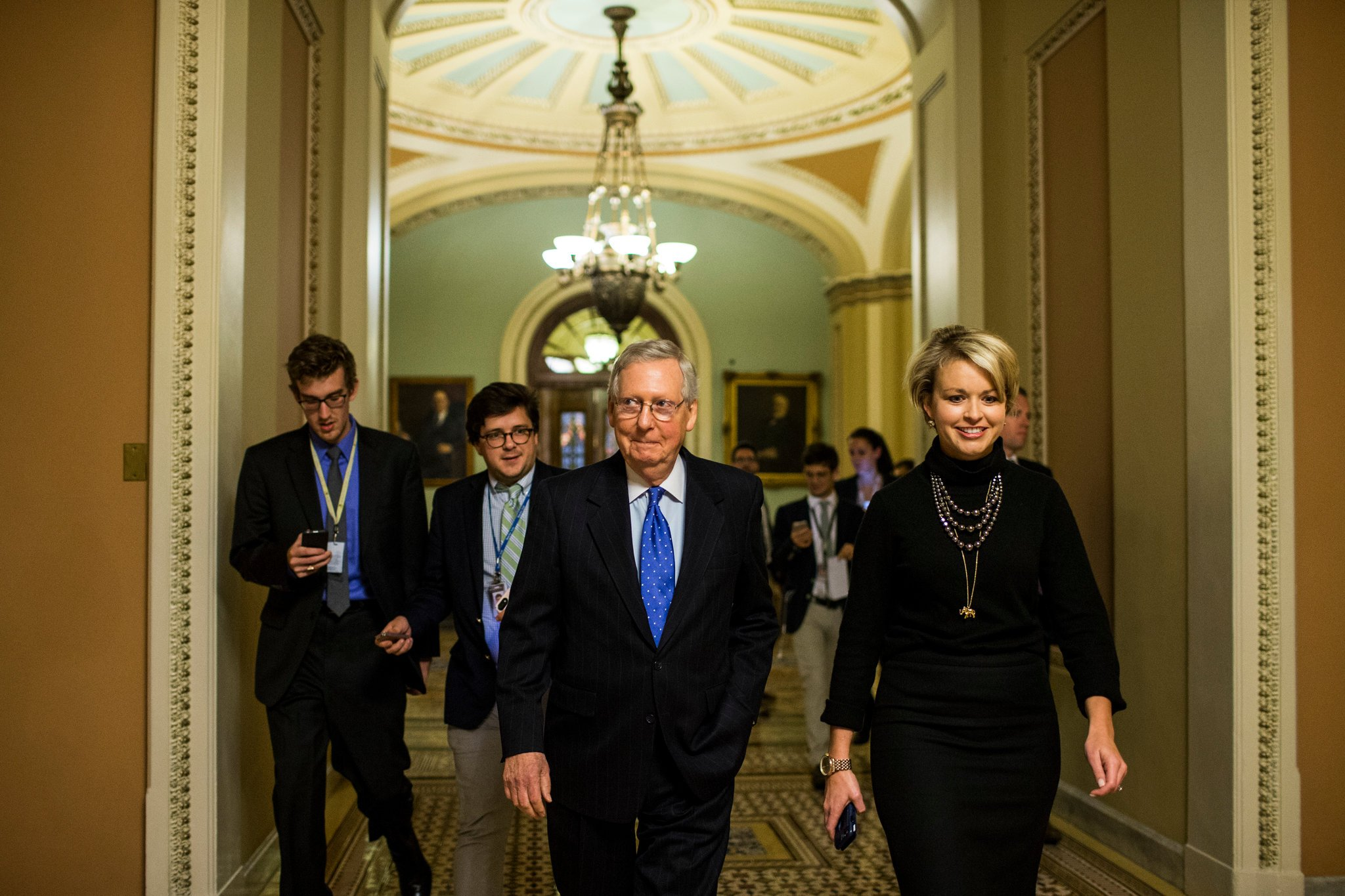 Mitch McConnell. Photo taken by NYT