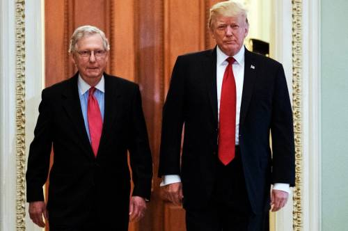Mitch McConnell and Donald Trump