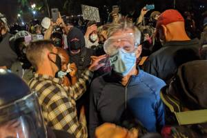Violence in America, Portland protests, Ted Wheeler, tear gas, federal agents, Homeland Security