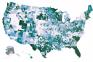 partisanship, counties