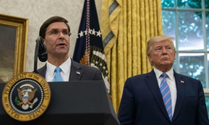 foreign policy, Donald Trump, Mark Esper, Middle East