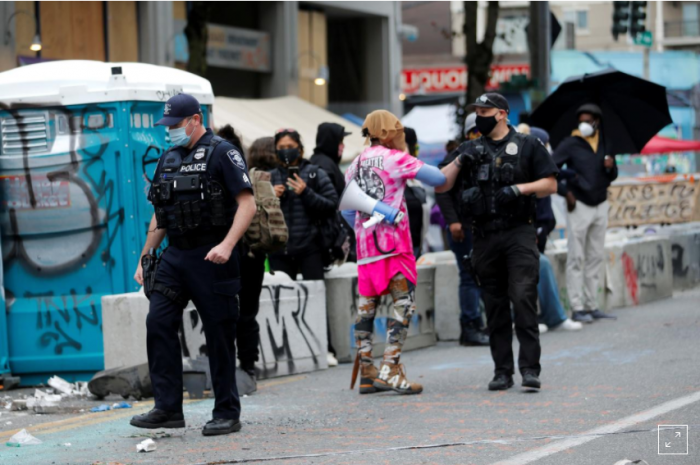 Violence in America, Seattle Autonomous Zone, CHOP, law and order, Seattle police, George Floyd protests