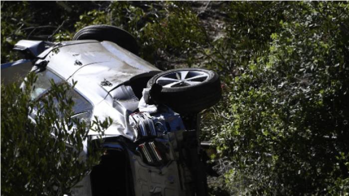 sports, golf, Tiger Woods, car crash