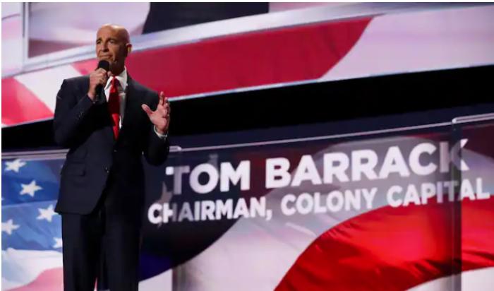 politics, Thomas Barrack, UAE, Donald Trump