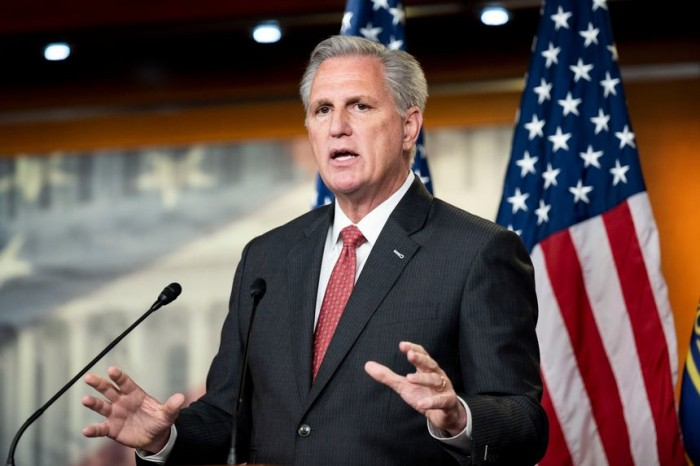 US House, January 6 Commission, Kevin McCarthy